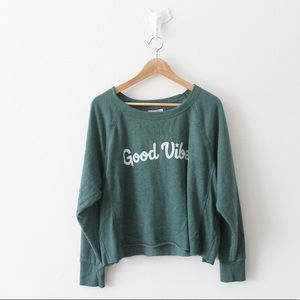 Grayson Threads Good Vibes Green Sweater 1712
